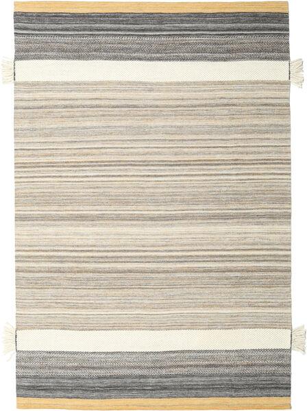 Fenix - Amarelo Tapete 200X300 Moderno Tecidos À Mão Cinzento Claro/Bege (Lã, Índia)
