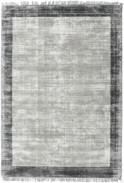 Luxus - Grey/Dark Grey Rug 140X200 Modern Light Grey/Turquoise Blue ( India)