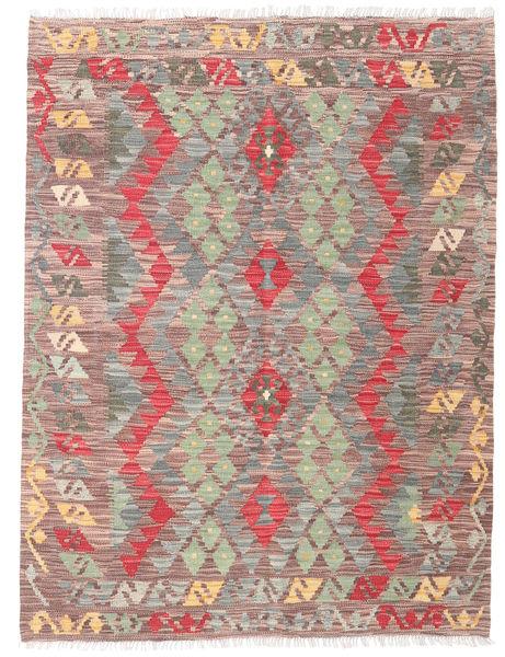 Kelim Afghan Old Style Matto 133X171 Itämainen Käsinkudottu Vaaleanpunainen/Vaaleanharmaa (Villa, Afganistan)