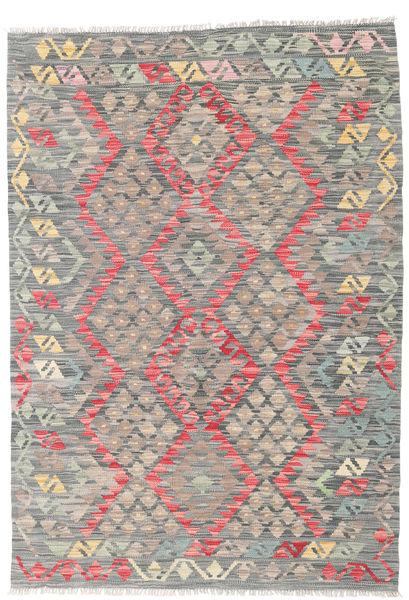 Kilim Afghan Old Style Rug 116X167 Authentic  Oriental Handwoven Light Grey/Dark Grey (Wool, Afghanistan)