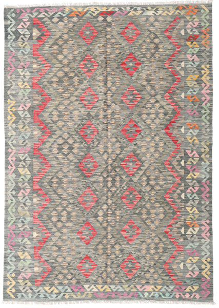 Kilim Afghan Old Style Rug 179X255 Authentic  Oriental Handwoven Light Grey/Dark Grey (Wool, Afghanistan)
