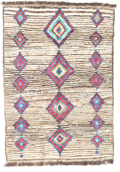 Barchi/Moroccan Berber - Afganistan Matto 95X132 Moderni Käsinsolmittu Beige/Vaaleanruskea (Villa, Afganistan)