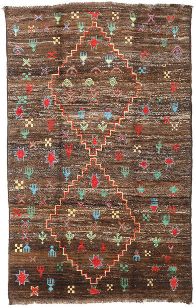 Barchi/Moroccan Berber - Afganistan Alfombra 190X304 Moderna Hecha A Mano Marrón/Marrón Oscuro (Lana, Afganistán)