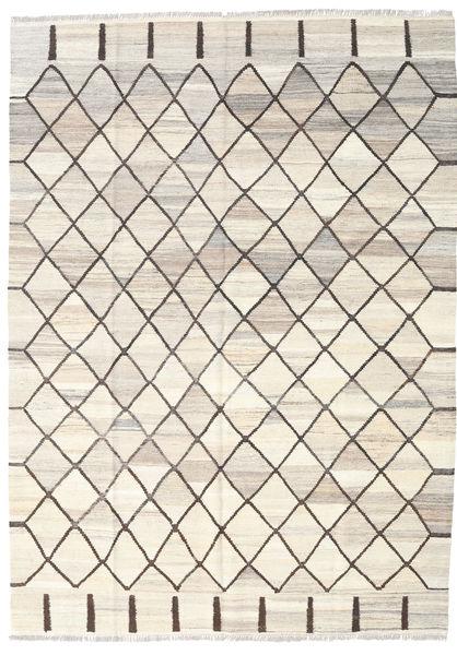Kilim Ariana Rug 182X254 Authentic  Modern Handwoven Beige/Light Grey (Wool, Afghanistan)
