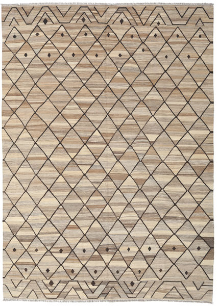 Kilim Ariana Rug 252X350 Authentic  Modern Handwoven Light Brown Large (Wool, Afghanistan)