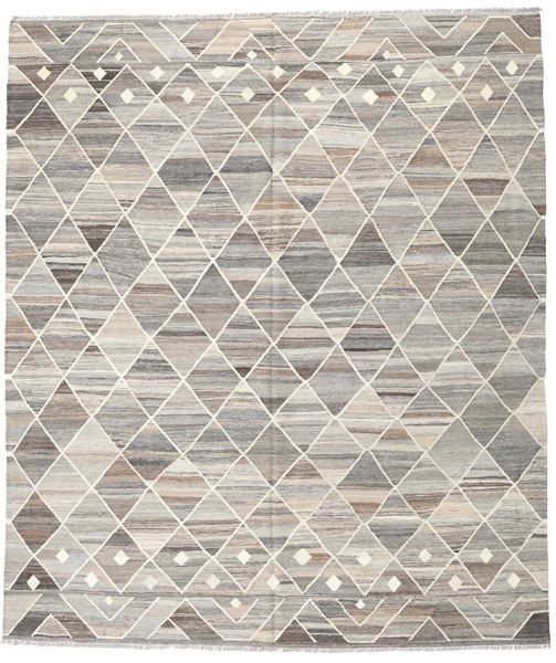 Kilim Ariana Rug 258X301 Authentic  Modern Handwoven Light Grey/Beige Large (Wool, Afghanistan)