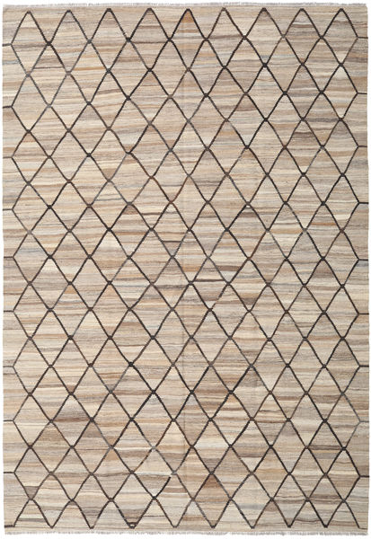 Kilim Ariana Rug 207X301 Authentic  Modern Handwoven Light Brown/Light Grey (Wool, Afghanistan)