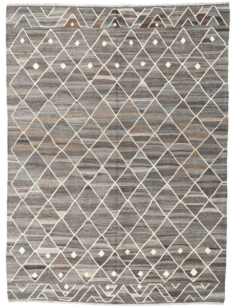 Kilim Ariana Rug 216X294 Authentic  Modern Handwoven Light Grey/Dark Grey (Wool, Afghanistan)
