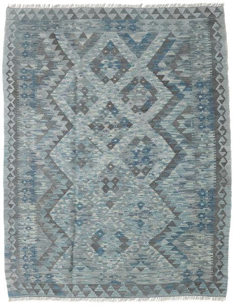 Kilim Afghan Old Style Rug 130X167 Authentic  Oriental Handwoven Dark Grey/Blue/Light Grey (Wool, Afghanistan)
