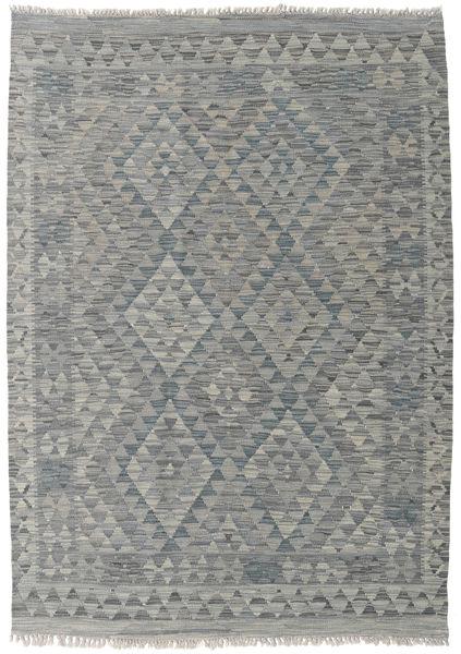 Kilim Afghan Old Style Rug 130X183 Authentic  Oriental Handwoven Light Grey/Dark Grey (Wool, Afghanistan)