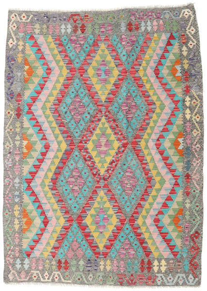 Kilim Afghan Old Style Rug 122X167 Authentic  Oriental Handwoven Light Grey (Wool, Afghanistan)