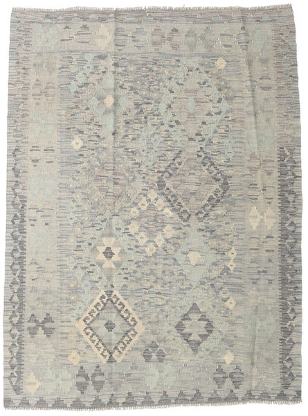 Kilim Afghan Old Style Rug 123X166 Authentic  Oriental Handwoven Light Grey (Wool, Afghanistan)