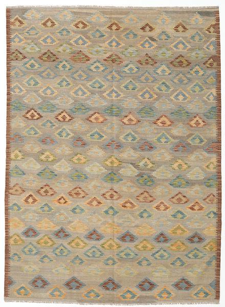 Kilim Afghan Old Style Rug 166X230 Authentic  Oriental Handwoven Light Grey/Light Brown (Wool, Afghanistan)
