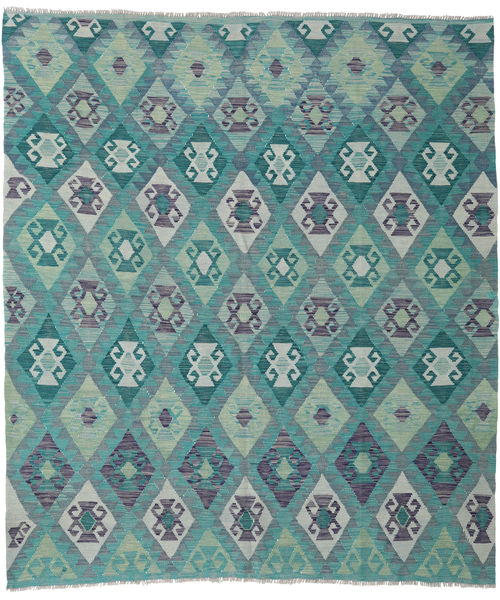Kilim Afghan Old Style Rug 218X248 Authentic  Oriental Handwoven Light Grey/Turquoise Blue (Wool, Afghanistan)