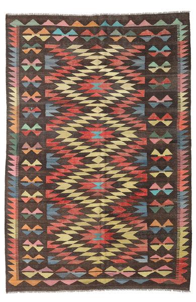 Kilim Afghan Old Style Rug 189X248 Authentic  Oriental Handwoven Dark Brown/Dark Red (Wool, Afghanistan)