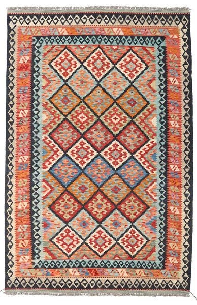Kilim Afghan Old Style Rug 166X253 Authentic  Oriental Handwoven Dark Grey/Orange (Wool, Afghanistan)