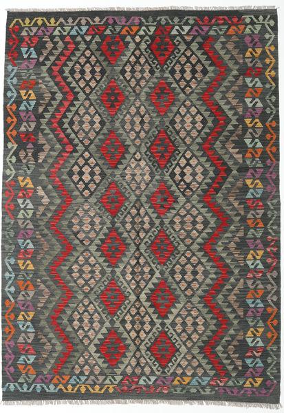 Kilim Afghan Old Style Rug 172X242 Authentic  Oriental Handwoven Dark Grey/Light Grey (Wool, Afghanistan)
