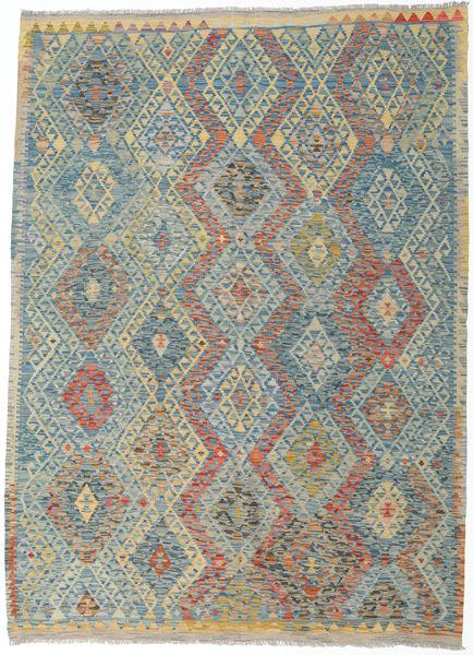 Kilim Afghan Old Style Rug 180X250 Authentic  Oriental Handwoven Light Grey/Light Brown (Wool, Afghanistan)