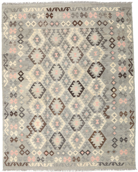 Kilim Afghan Old Style Rug 193X245 Authentic  Oriental Handwoven Light Grey (Wool, Afghanistan)