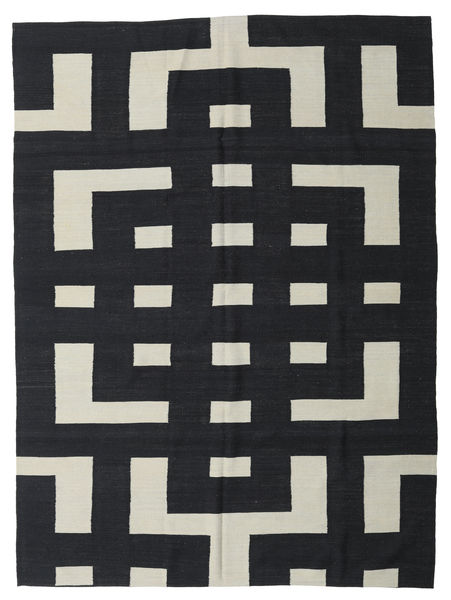 Kilim Moderni Tappeto 212X285 Moderno Tessuto A Mano Grigio Scuro/Grigio Chiaro (Lana, Afghanistan)