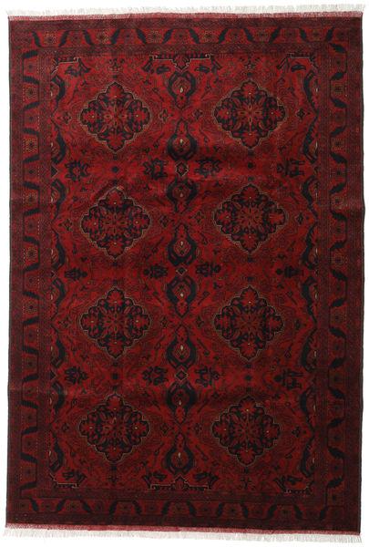 Afghan Khal Mohammadi Matta 203X294 Äkta Orientalisk Handknuten Mörkröd/Mörkbrun (Ull, Afghanistan)
