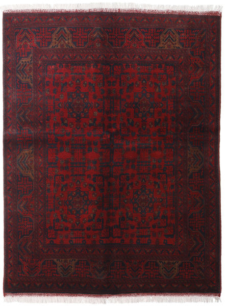 Afghan Khal Mohammadi Rug 150X195 Authentic  Oriental Handknotted Dark Red (Wool, Afghanistan)
