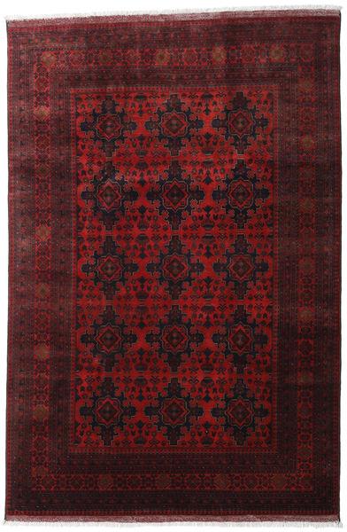 Afghan Khal Mohammadi Matta 199X296 Äkta Orientalisk Handknuten Mörkröd/Mörkbrun (Ull, Afghanistan)