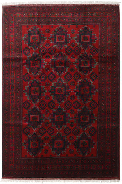 Afghan Khal Mohammadi Alfombra 204X298 Oriental Hecha A Mano Rojo Oscuro (Lana, Afganistán)