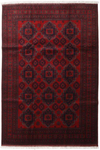 Afghan Khal Mohammadi Vloerkleed 204X298 Echt Oosters Handgeknoopt Donkerrood (Wol, Afghanistan)