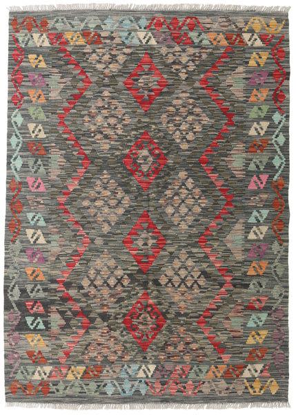 Kilim Afghan Old Style Rug 127X177 Authentic  Oriental Handwoven Dark Grey/Light Brown (Wool, Afghanistan)