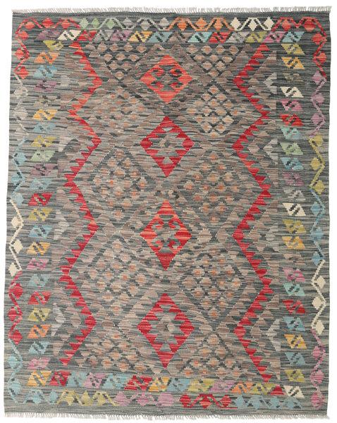 Kelim Afghan Old Style Matto 135X168 Itämainen Käsinkudottu Vaaleanharmaa/Tummanharmaa (Villa, Afganistan)