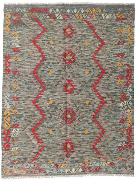Kilim Afghan Old Style Rug 150X194 Authentic  Oriental Handwoven Light Grey/Dark Grey (Wool, Afghanistan)