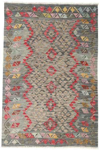 Kilim Afghan Old Style Rug 125X186 Authentic  Oriental Handwoven Dark Grey/Light Grey (Wool, Afghanistan)