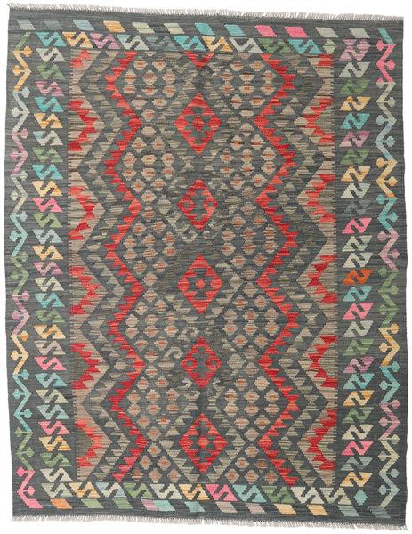 Kilim Afghan Old Style Rug 155X198 Authentic  Oriental Handwoven Dark Grey/Light Grey (Wool, Afghanistan)