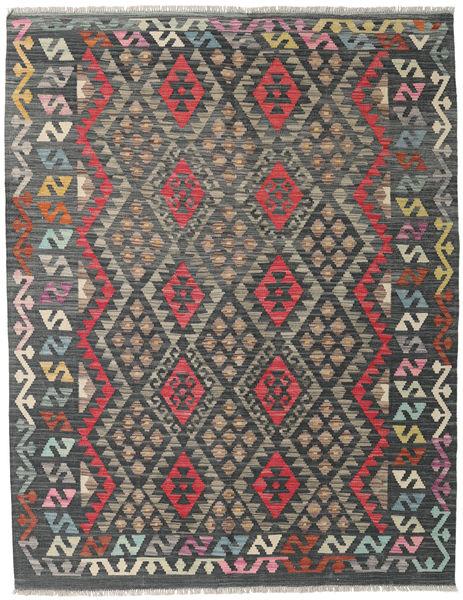 Kilim Afghan Old Style Rug 154X199 Authentic  Oriental Handwoven Dark Grey/Light Brown (Wool, Afghanistan)