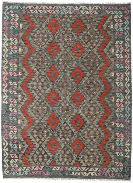 Kilim Afghan Old Style Rug 173X235 Authentic  Oriental Handwoven Dark Grey/Light Grey (Wool, Afghanistan)