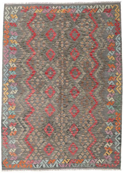Kilim Afghan Old Style Rug 171X239 Authentic  Oriental Handwoven Light Grey/Dark Grey (Wool, Afghanistan)