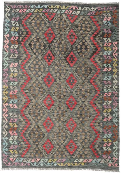 Kilim Afghan Old Style Rug 172X244 Authentic  Oriental Handwoven Dark Grey/Light Grey (Wool, Afghanistan)