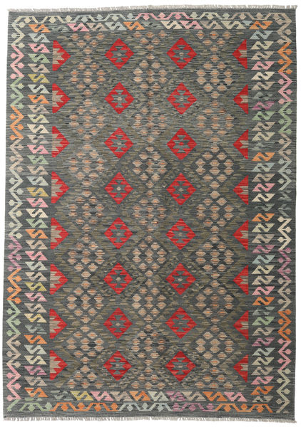 Kilim Afghan Old Style Rug 175X246 Authentic  Oriental Handwoven Dark Grey/Light Grey (Wool, Afghanistan)