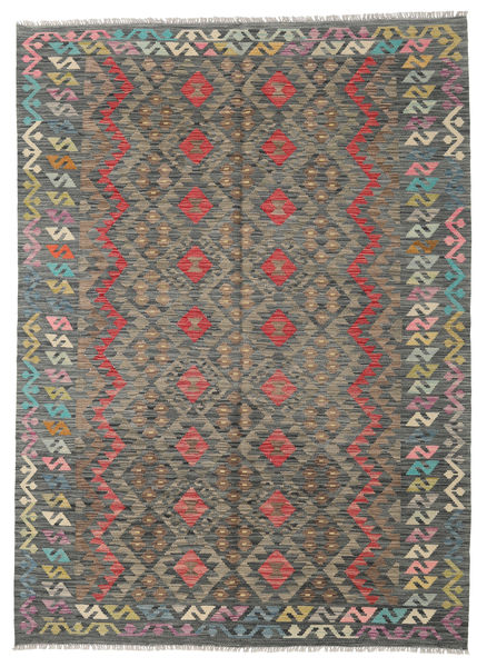 Kilim Afghan Old Style Rug 176X241 Authentic  Oriental Handwoven Dark Grey/Light Grey (Wool, Afghanistan)