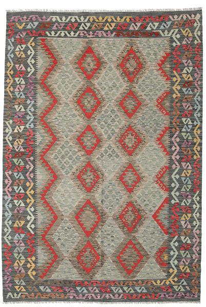 Kilim Afghan Old Style Rug 202X295 Authentic  Oriental Handwoven Light Brown/Light Grey (Wool, Afghanistan)