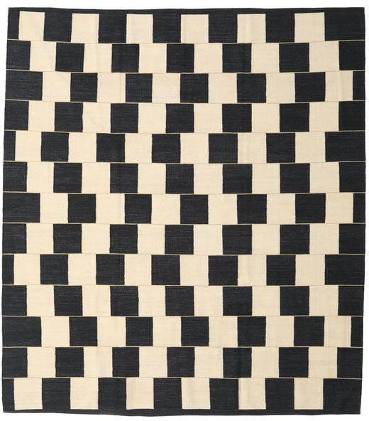 Kelim Moderni Matto 264X295 Moderni Käsinkudottu Tummanharmaa/Beige Isot (Villa, Afganistan)