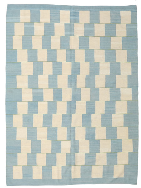 Kilim Modern Rug 212X285 Authentic  Modern Handwoven Light Blue/Beige (Wool, Afghanistan)