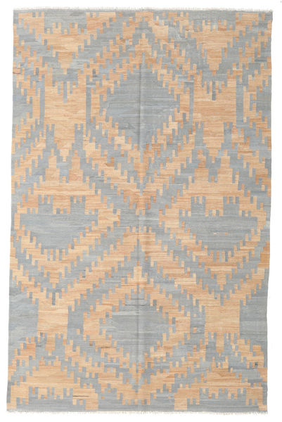 Kilim Modern Rug 196X305 Authentic  Modern Handwoven Light Grey/Dark Beige (Wool, Afghanistan)