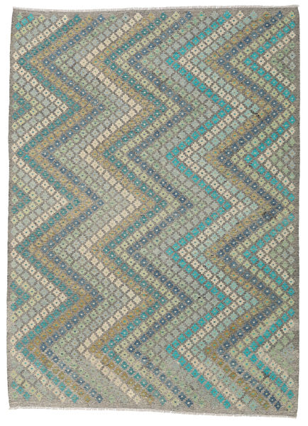 Kilim Afghan Old Style Rug 207X284 Authentic  Oriental Handwoven Light Grey/Dark Grey (Wool, Afghanistan)
