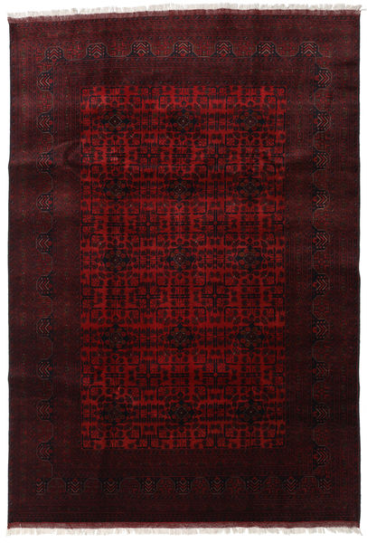 Afghan Khal Mohammadi Rug 200X292 Authentic  Oriental Handknotted Dark Brown/Dark Red (Wool, Afghanistan)
