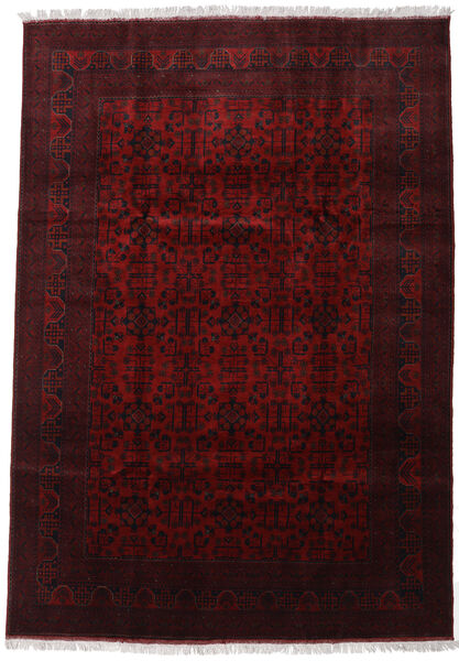 Afghan Khal Mohammadi Rug 206X293 Authentic  Oriental Handknotted Dark Red (Wool, Afghanistan)