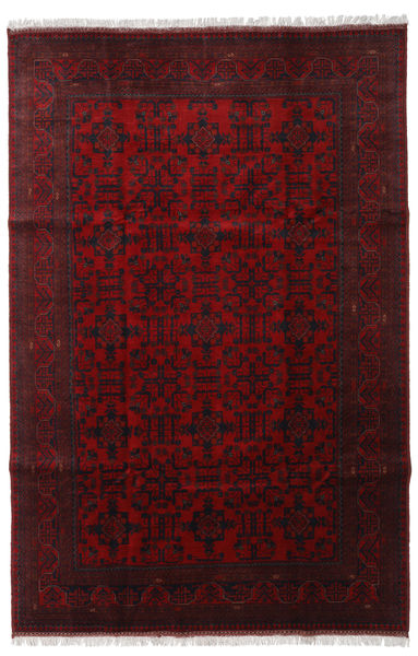 Afghan Khal Mohammadi Alfombra 196X295 Oriental Hecha A Mano Rojo Oscuro (Lana, Afganistán)