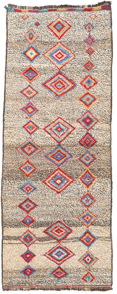 Barchi/Moroccan Berber - Afganistan Rug 93X237 Authentic  Modern Handknotted Hallway Runner  Light Brown/Beige (Wool, Afghanistan)