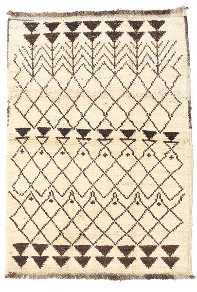 Barchi/Moroccan Berber - Afganistan Rug 93X131 Authentic  Modern Handknotted Beige/Dark Brown (Wool, Afghanistan)